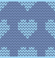 tile knitting pattern with light blue hearts vector image