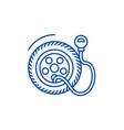 tire service pumptire pressure line icon concept vector image