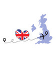 travel to great britain airplane vector image vector image