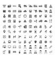 Universal Icon Set 100 icons vector image vector image
