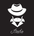 unknown bearded man in a hat mafia hand lettering vector image