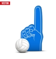 Volleyball Sports Fan Foam Fingers and ball vector image