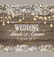 wedding invitation card beautiful lace vector image vector image