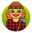 woman lumberjack vector image