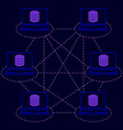 distributed database blockchain vector image