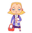 tired business woman vector image
