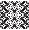 Ethnic black and white seamless pattern vector image