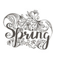 fresh spring background with lettering vector image