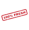 100 Percent Fresh Text Rubber Stamp vector image vector image