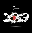 2019 new year and soccer ball as flag japan vector image