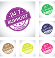 24 hour support group vector image vector image