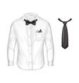 3d realistic set male formal wear vector image vector image