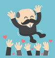 a successful businessman boss toss up successful vector image