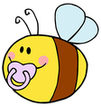 Baby Bee Cartoon Character vector image vector image