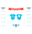 baby rompers icon vector image