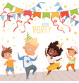 background at childrens dance party vector image