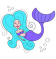beautiful mermaid for t shirts and fabrics or vector image