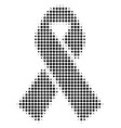 black dotted mourning ribbon icon vector image vector image