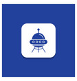 blue round button for space ship space ship vector image