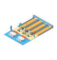bowling alley isometric view vector image