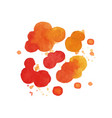 bright watercolor painting of fire explosive vector image vector image
