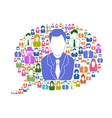 business people in speech bubble vector image vector image