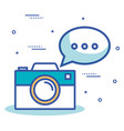 camera photographic with icon vector image