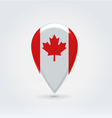 Canadian icon point for map vector image vector image