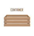 cartoon box basket cratewooden container vector image vector image