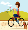 child-bike vector image