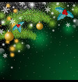 christmas background design with copy space vector image vector image