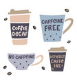 coffee cup handdrawn with handdrawn vector image vector image