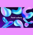 colorful card with abstract liquid shapes vector image