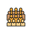 crowd people social user group network flat vector image