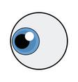 cute cartoon eye look emoticon icon vector image vector image