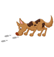 Cute dog cartoon sniffing vector image vector image