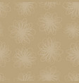 earth tone subtle flower texture seamless vector image vector image