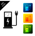 electric car charging station icon isolated on vector image vector image