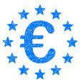 european union grunge icon vector image vector image