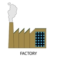 Factory icon or sign vector image