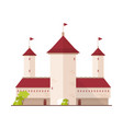 fairytale castle fortress or citadel with towers vector image vector image