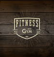 Fitness gym badges logos and labels for any use vector image vector image