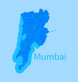 Flat icon map of mumbai