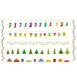 garland set of pixel art for christmas and new vector image vector image