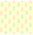Girl and boy baby seamless pattern vector image