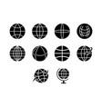 globe icon set vector image vector image