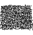 graffiti tags background in black over white vector image vector image