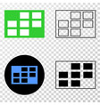 grid cells eps icon with contour version vector image vector image