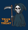grim reaper halloween card invitation design vector image vector image