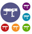 hand drill icons set vector image vector image